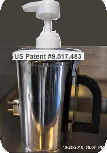 58 - US Air Force $1268.00 stainless steel reheatable hot cup/mg using my press-on lid soap pump 